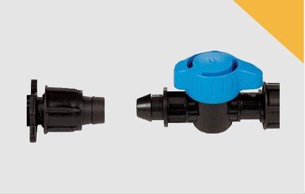 Válvulas y enlaces para cinta y tubo PEBD