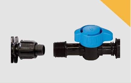 Válvulas y enlaces para cinta y manguera LAYflat